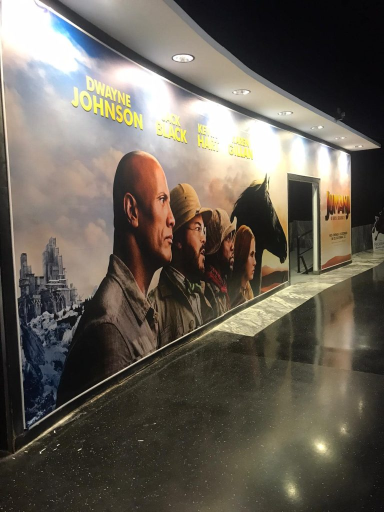 - Jumanji – Cinemas