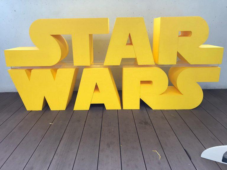 Projectos em Esferovite - Letras Star Wars