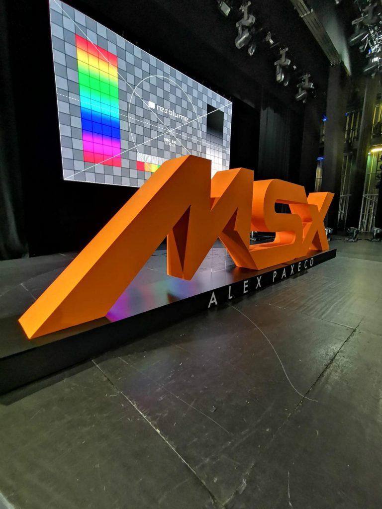 Projectos em Esferovite - MSX – Letras em esferovite